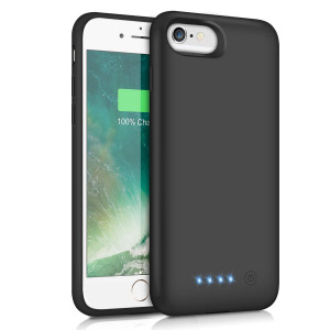 iPhone 6S 6 Battery Case 6000mAh,Rechargeable Charging Case for iPhone 6 External Charger Cover iPhone 6S Battery Pack Apple Power Bank [4.7 inch]- Black