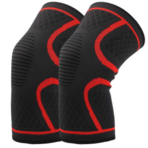 Hausbell Knee Brace, Knee Compression Sleeve Support for Arthritis, ACL, Running, Pain Relief, Injury Recovery, Basketball, Sports, Men and Women