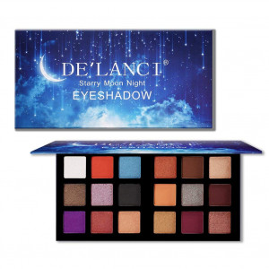 DE'LANCI 18 Colors Eyeshadow Makeup Palette with Mirror, Shimmer + Matte + Duo-Chromes Eye Shadow Make Up Powder - Ultra Pigmented Waterproof Cosmetics Set - Vegan and Cruelty Free, 0.76 Ounce