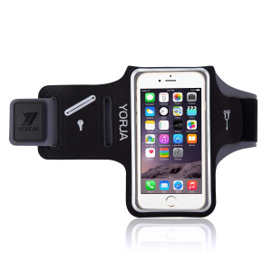 Running Armband Apple and Samsung,YORJA iPhone X/XS/XR/XS max/8 Plus/7 Plus/6 Plus and Galaxy S9/S8/S7 Edge Arm Holder Jogging,Hiking,Workout,Fitness Key Holder,Card and Money Pocket(Black)
