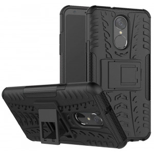 LG Stylo 4 Case, LG Q Stylus Case, LG Stylo 4 Plus, Yiakeng Dual Layer Shockproof Wallet Slim Protective with Kickstand Hard Phone Case Cover for LG Stylo 4 (Black)