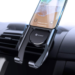 VICSEED Car Phone Mount Vent Cell Phone Holder for Car, Handsfree Moblie Phone Car Mount Cradle Compatible iPhone Xs Max XR X 8 7 Plus, Samsung Galaxy Note9 S9 S8 Plus LG Google etc.