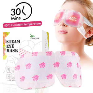 Natural Warming Steam Eye Mask for Reducing Eye Stress and Puffy Eyes, Relieving Eyes Fatigue Convenient Sleep Eye Mask for Travel Working Relaxing Women and Men 10 Units/Box