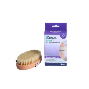UpRegen Professional Dry Body Brushing (Boar Bristles (Medium bristles))