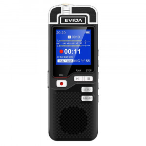 EVIDA Voice Recorder for Lectures Rechargeable - Digital Voice Activated Recorder Portable Tape Recorder Dictaphone Recording Device with Playback,Mp3,Variable Speed (Black)