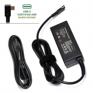 USB C Type-C Charger Power Adapter for HP Spectre x360 13 TPN-CA01 N8N14AA#ABL Acer Travelmate B1 Lenovo YOGA 720 910 ThinkPad X1 Yoga5 Pro DELL XPS12 XPS13