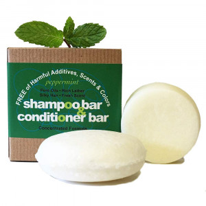 Whiff Shampoo Bar and Conditioning Bar, Peppermint: Rich lather, Pure oils, Limited Ingredients, FREE from harmful Additives, Fragrances, Scents, Colorings; Concentrated formula (peppermint)