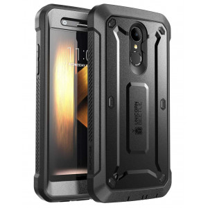 LG K30 Case, SUPCASE [UB PRO] Full-Body Rugged Drop-Proof Case with Built-in Screen Protector and Rotating Belt Clip Holster for LG K30 / LG Premier Pro/LG K10 2018 Release (Black)