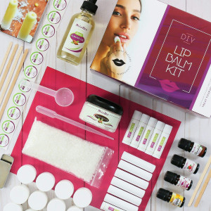 Ultimate Lip Balm Making Kit (87- Piece Set) | All Natural Formula With Beeswax, Shea Butter, Almond Oil+ 4 Rich Flavors to Create 25 Lush Lip Balms | Best Holiday Gift and Craft Kit For Adults
