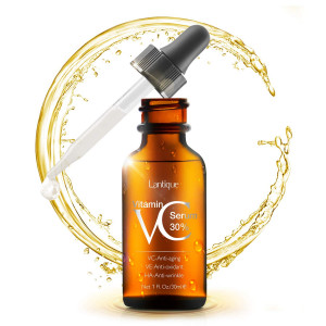 Vitamin C Serum Face Serum With 30% VC and Hyaluronic Acid and Vitamin E - Anti Wrinkles, Age Spots,Brighten - Natural and Organic Serum for Face and Eyes
