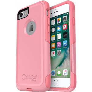 OtterBox COMMUTER SERIES Case Compatible with iPhone 8 and iPhone 7 (NOT Plus) - ROSMARINE/PIPELINE PINK