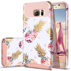 Pineapple Note 5 Case,Galaxy Note 5 Case,Fingic Cute Pineapple Slim Hybrid Case Hard PCandSoft Rubber Anti-Scratch Protective Case for Girls Protective Case for Samsung Galaxy Note 5,Pink