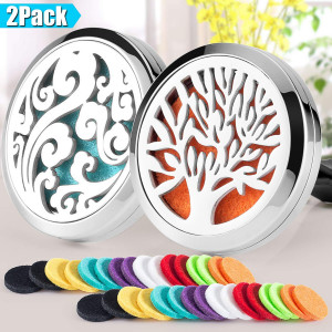 2 Pack Aromatherapy Car Diffuser Vent Clip 30mm Stainless Steel Car Diffuser Locket