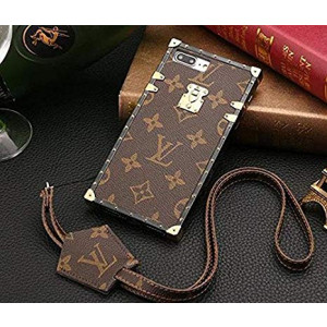 iPhone 8 Plus Case, MCA New Brown Leather Back Cover Case for iPhone 8 Plus and 7 Plus