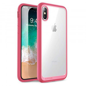 iPhone XS Case, iPhone X Case, SUPCASE [Unicorn Beetle Style] Premium Hybrid Protective Clear Case for for iPhone X 2017 and iPhone XS 5.8 inch 2018 Release (Pink)