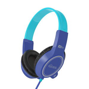 MEE audio KidJamz 3 Child Safe Headphones for Kids with Volume-Limiting Technology (Blue)