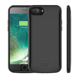 (Upgraded) iPhone 7 Plus /8 Plus Battery Case, AUYOO 5500mAh Portable Charger Case Ultra-Thin Rechargeable Extended Battery Pack Protective Backup Charging Case Cover for Apple iPhone 7 Plus /8 Plus