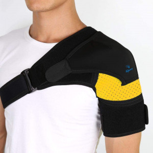 Shoulder Brace-Shoulder Compression Sleeve Strap wrap Provides Support and Ease in Rotator Cuff, Shoulder Pain and Labrum Tear Injury for Men and Women.