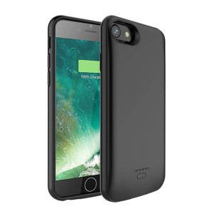 (Upgraded) iPhone 7/8 Battery Case, AUYOO 4000mmAh Portable Charger Case Ultra-Thin Rechargeable Extended Battery Pack Protective Backup Charging Case Cover for Apple iPhone 7/8 (4.7 Inch) (Black)