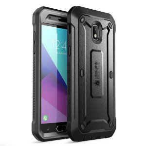 Samsung Galaxy J3 2018 Case, SUPCASE Unicorn Beetle Pro Series Full-Body Rugged Holster Case with Built-In Screen Protector for Samsung Galaxy J3 Achieve (2018 Release/SM-J337)(Black)