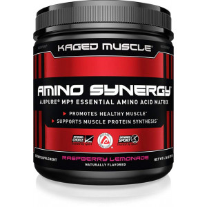 Amino Synergy, EAA Powder, Essential Amino Acid Supplement with Cocunut Water, Essential Aminos, EAA's, Raspberry Lemonade, 30 Servings