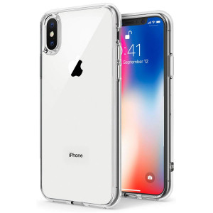 TENOC Case Compatible for Apple iPhone X/10 iPhone Xs, Crystal Clear Soft TPU Cover Full Protective Bumper