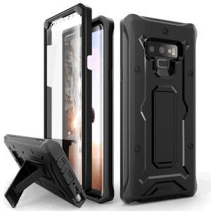 Galaxy Note 9 Case - ArmadilloTek Vanguard Series Military Grade  Rugged Case with Built-in Screen Protector and Kickstand for Samsung Galaxy Note 9 (2018) - Black