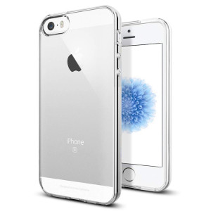 TENOC Case Compatible for Apple iPhone 5/ iPhone 5S/ iPhone SE, Crystal Clear Soft TPU Cover Full Protective Bumper