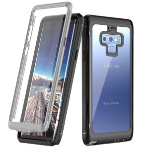 Samsung Galaxy Note 9 Case, Singdo Built-in Screen Protector Cover 360 Degree Protection Rugged Clear Bumper Case Kickstand Samsung Galaxy Note 9