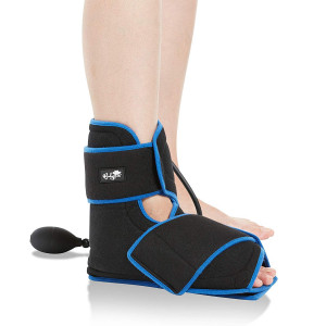 Bodyprox Ankle Ice Pack Injuries, Hot and Cold Air Compression Ankle Brace Support, Helps Stabilize Relieve Achilles Tendon Pain, Ankle Sprains, Arthritis, Joint Pain Sports Injury
