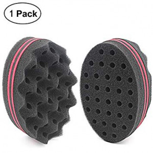 HALLO Black Magic Dual-use Hair Twists Sponge Brush for Coils/Dreads(1 PACK)