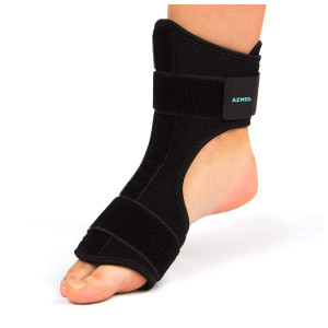AZMED Night Splints for Plantar Fasciitis Support, Adjustable Foot Brace for Achilles Tendonitis, Black