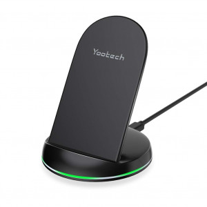 Yootech Wireless Charger Qi-Certified 7.5W Wireless Charging Stand Compatible iPhone XS MAX/XR/XS/X/8/8 Plus,10W Compatible Galaxy Note 9/S9/S9 Plus/Note8,5W All Qi Enabled Phones(No AC Adapter)