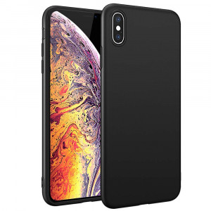 HiZiTi iPhone Xs Max Case, Thin Ultra-Slim Fit Bumper Matte Finish Flexible TPU Phone Case Cover Compatible iPhone Xs Max (6.5 inch) - Black
