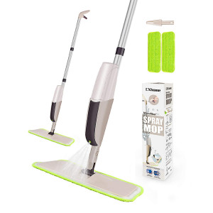 Spray Mop for Floor Cleaning, Mops for Floor Cleaning, CXhome Hardwood Floor Mop with 2 Washable Microfiber Mop Pads and 1 Refillable Bottle, Spray Mop Tile for Home Kitchen