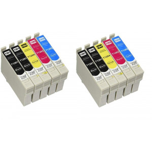 ARIA SUPPLIES Remanufactured Ink Cartridges High Capacity Replacement for Epson 126 T126 (4x Black, 2x Cyan, 2x Yellow, 2x Magenta, 10-Pack)