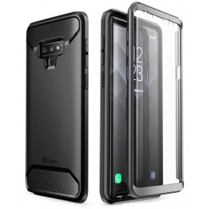 Samsung Galaxy Note 9 Case, Clayco [Xenon Series] Full-body Rugged Case with Built-in 3D Curved Screen Protector for Samsung Galaxy Note 9 (2018 Release) (Black)