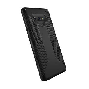 Speck Products Samsung Note 9 Case, Presidio Grip Cell Phone Case, Black/Black