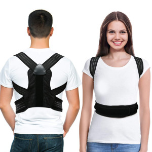 LOOTUS Back Posture Corrector for Women and Men,Relieves Shoulders and Upper Back Pain,Improves Posture and Corrects Hunching,Clavicle Support Adjustable Belt.