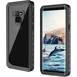 Samsung Galaxy Note 9 Waterproof Case, GOCOOL Galaxy Note 9 Protective Case, Clear Sound, Built-in Protector, Full Protective Case for Galaxy Note 9, Waterproof, Dirtproof, Snowproof, Black