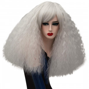 ELIM Costume Wigs Short Fluffy Cosplay Wig with Bangs Halloween Costumes for Women