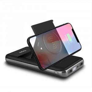 Wireless Charger Power Bank 20000mAh Qi Wireless Charging Portable Battery with LED Digital Display and Foldable Bracket for iphone XS/XS MAX/XR/X/8/8 plus,Samsung Galaxy S9/8/7 Note 8/5 and more