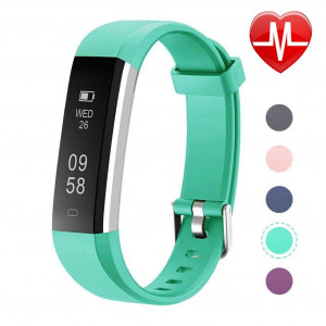 Letsfit Fitness Tracker with Heart Rate Monitor, Slim Activity Tracker Watch, Pedometer Watch, Sleep Monitor, Step Counter, Calorie Counter, Waterproof Smart Band for Kids
