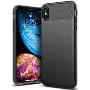 Caseology [Vault Series] iPhone Xs Max Case - [Rugged Matte Finish] - Black
