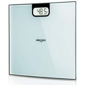 "Okaysou All-New Digital Body Weight Bathroom Scale with Large 3.6"" Backlit LCD Display, Step-On Technology, 400 Pound Capacity"