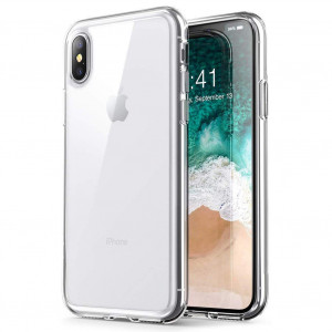 """iPhone Xs Max case, PUSHIMEI Soft TPU Crystal Transparent Slim Anti Slip Anti-fingerprint Full-body Protective Phone Case Cover For Apple iPhone 10s Max / iPhone Xs Max 2018 6.5"""" (Clear TPU)"""