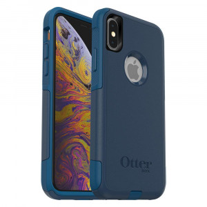 OtterBox Commuter Series Case iPhone Xs and iPhone X - Retail Packaging - Bespoke Way (Blazer Blue/Stormy SEAS Blue)