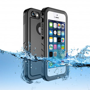 Sincetop Compatible iPhone SE Waterproof Case/iPhone 5S Case Waterproof - Underwater Full Sealed IP68 Shockproof Full-Body Rugged Case with Built-in Screen Protector Cover Compatible iPhone SE/5S/5