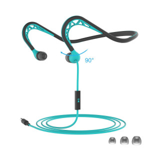 MUCRO Running Headphones, in Ear Sport Earbuds Earphones with Remote and Mic, Neckband Wired Stereo Workout Ear Buds for Jogging Gym, Cell Phones Headset,Blue