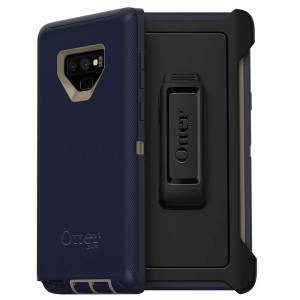 OtterBox Defender Series Case for Samsung Galaxy Note9 - Frustration Free Packaging - Dark Lake (Chinchilla/Dress Blues)
